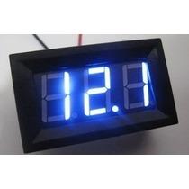 Voltímetro Digital Automotivo,led Azul E Verde3,5~30v Tuning
