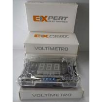 Combo 5 Peça Medidor Bateria Voltimetro Digital Banda Expert