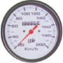 Velocimetro 100mm 0kmh A 200kmh Aluminio 12m