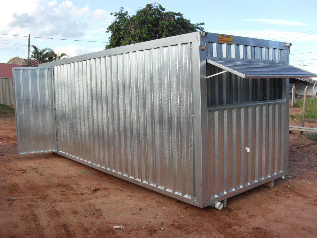 Container Escritorio Com Banheiro R$ 12.780 00 no MercadoLivre #427989 1024x768 Banheiro Container A Venda