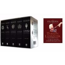 Box Guerras Dos Tronos 5 Livros + Filosofia De Tyrion