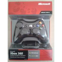 Controle Xbox 360 Sem Fio Wireless + Receiver Usb Para Pc
