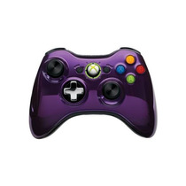 Novo Controle Wireless Cromado Special Edition Roxo Xbox 360