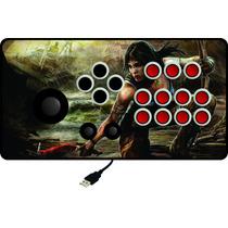Controle Arcade Tipo Fliperama Xbox 360 / Pc Com Analógico!
