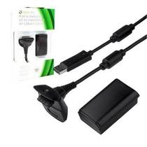 Kit Xbox 360 Controle Original Sem Fio + Bateria Carregador