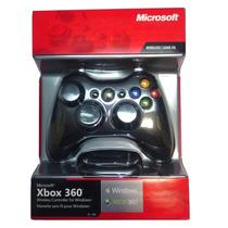 Controle Xbox 360 Sem Fio Wireless Com Receptor Usb P/ Pc