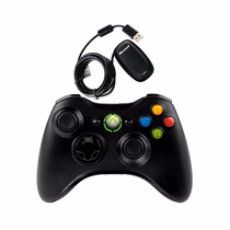 Controle Xbox 360 E Pc C/receptor Wireless Usb Original