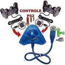 Adaptador Pc Conversor Usb P/ 2 Controles Play 2