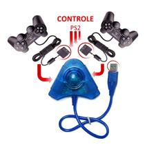Adaptador Usb Duplo Para Controles Ps2 Ps1 Ligue Ps3 Pc