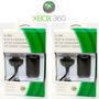 Kit 2x Baterias + 2x Cabos Carregadores P/ Controle Xbox360
