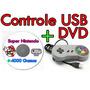 Controle Super Nintendo Usb Snes Computador Pc +dvd C/jogos