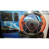 Volante Usb 3 Em 1 Para Ps2 Ps3 Pc High Speed Wheel Advance