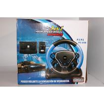 Volante 3 Em 1 Usb Para Ps2 Usb Pc High Speed Wheel Advance