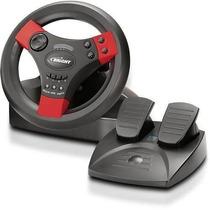 Mini Volante Shock Usb, Ps2, Ps3 E Pc Bright C 2 Pedais 0214