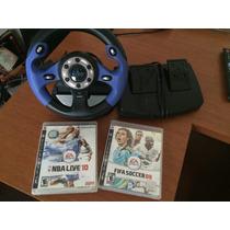 Volante Para Ps2/ps3 Neo Racing - Gratis 2 Jogos Ps3!!