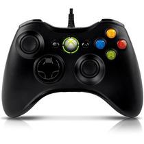 Controle Com Fio Xbox 360 E Pc Preto Original Microsoft