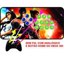Controle Arcade Xbox 360 Sem Fio Com Analógico!
