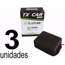 Kit 3 Controle Motor Portão Eletrônico Farol Tx Car Oferta