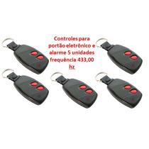 Kit Controle P/ Portão Eletrônico E Alarme 433hz | 5 Unid.