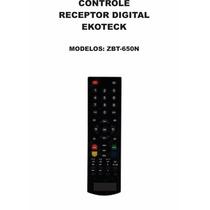 Controle Remoto Receptor Digital Ekotech Zbt-650n