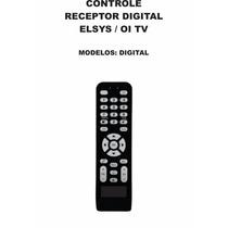 Controle Remoto Receptor Digital Elsys Oi Tv Livre