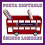 Porta Controle Remoto Ônibus Londres Cinema No Sofá C Pipoca