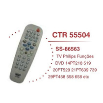 Controle Remoto Tv Philips Dvd Ss 86563 Compativel Original