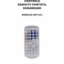 Controle Remoto Rádio Portátil Com Tv Dvd Durabrand Bdt125j