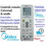 Controle Remoto Universal Ar Condicionado Split Midea