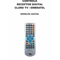 Controle Remoto Receptor Digital Claro Tv Via Embratel