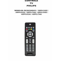 Controle Remoto Tv Tela Plana Philips Rc2023606/01 32pfl3322