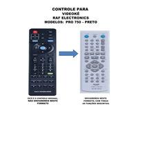 Controle Remoto Raf Electronics Pro 750 Preto