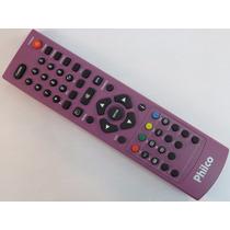 Controle Remoto Tv Led Lcd Philco Rosa 32 42 Original Novo