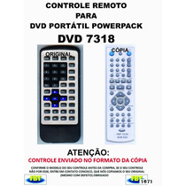 Controle Remoto Para Dvd Portatil Powerpack 7318 // Fbt 1671