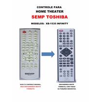 Controle Remoto Home Theater Semp Toshiba Infinity Xb-1535