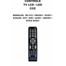 Controle Remoto Tv Lcd Led Cce Rc-512 Cw3201 D3201 D32 4201