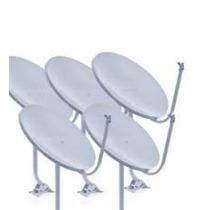 Kit 5 Antenas Ku + Lnb + Conectores + Cabo