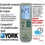 Controle Remoto Ar Condicionado Split York