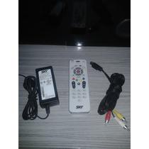 Kit Controle Remoto,fonte De Energia E Cabo S-k-y Livre S-14