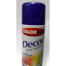 Tinta Spray Azul Angra Metálico 360ml Colorgin Sul Ferragem