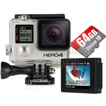 Gopro Hero 4 Black Edition + Tela Lcd + 64 Gb Go Pro Hero4