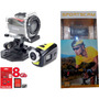 Camera Digital Hd Capacete Moto Bicicleta + 8gb Tipo Gopro