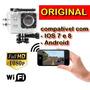 Camera Esportiva Sportscam Wifi Fullhd 1080p Moto Bike Carro