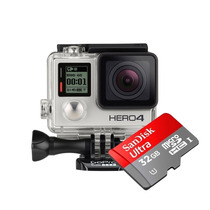Camera Gopro Go Pro Hero 4 Silver Tela Lcd Filmadora + 32gb