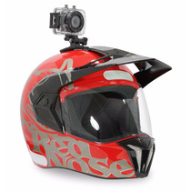 Capacete Moto Red Nose + Camera Tipo Gopro Hero Kit Completo