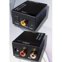 Adaptador Conversor Toslink Optico E Coaxial P/ Rca
