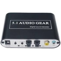 Conversor Adaptador Audio Digital Para Analógico 5.1 Ou 2.1