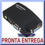 Box Conversor Rca S-video P/ Vga - Ps2 Ps3 Xbox No Monitor