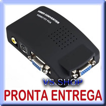 Box Conversor Rca S-video P/ Vga - Ps2 Ps3 Xbox No Monitor