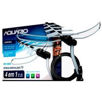 Antena Externa Digital Aquario Dtv3000 +cabo+suporte+manual